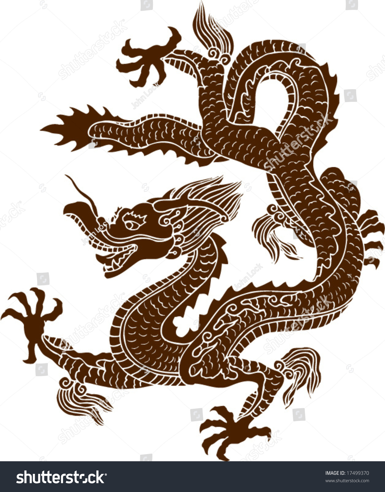 Vector ancient chinese dragon pattern stock vector 17499370 vector of ancient chinese dragon pattern buycottarizona