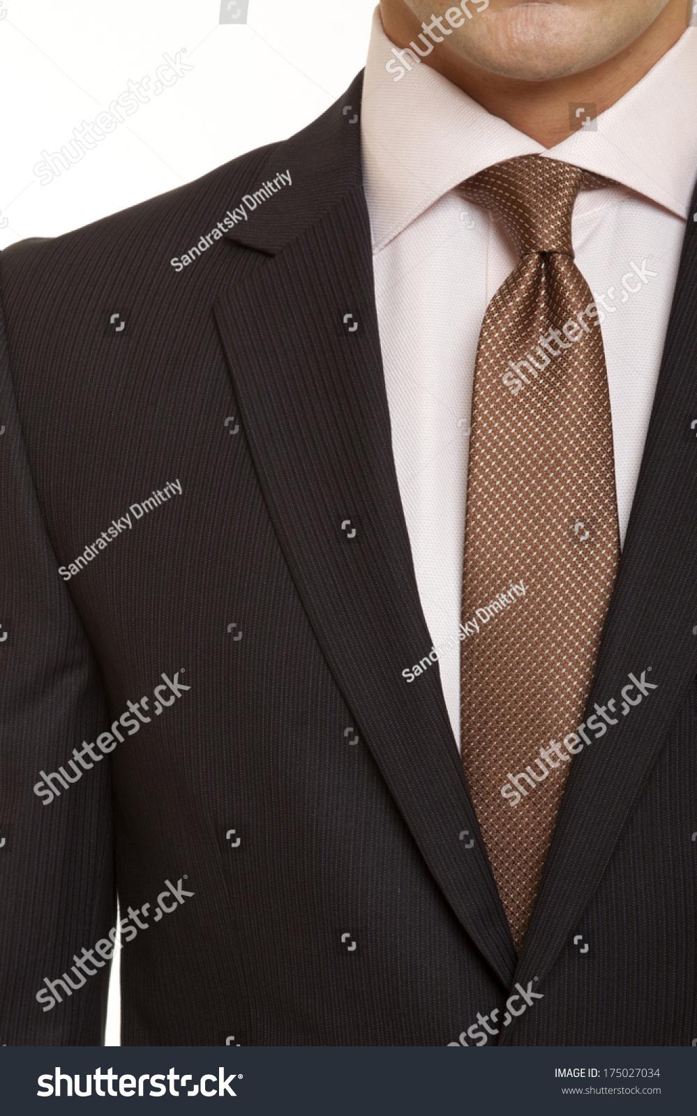 Black Suit Brown Tie Stock Photo 175027034 - Shutterstock