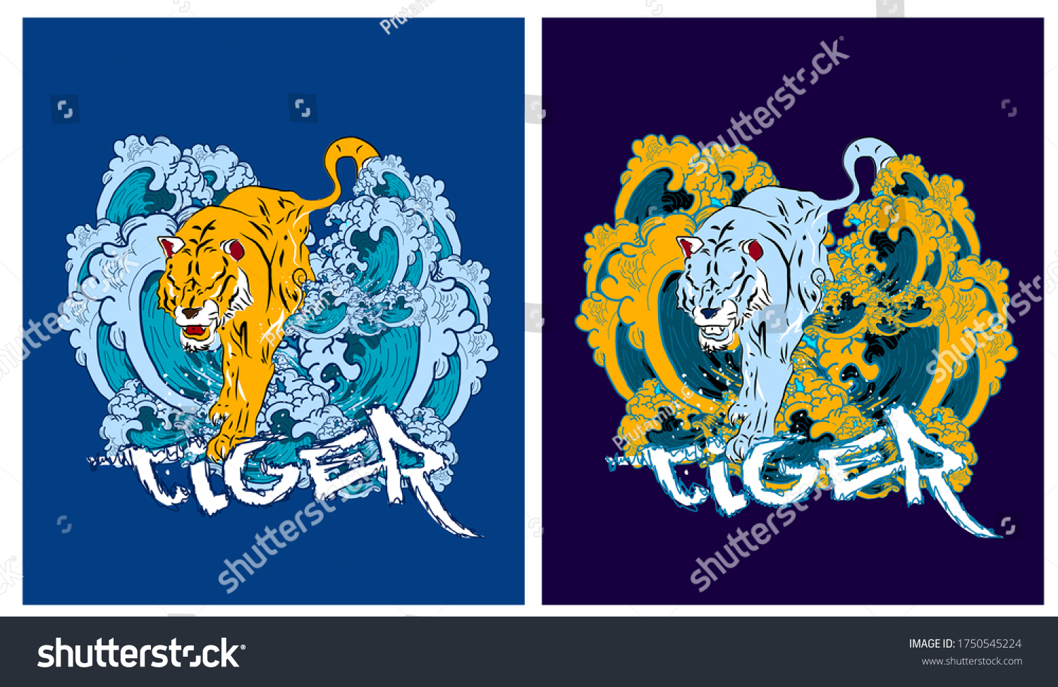 Sumatran tiger illustration design for sukajan is mean japan traditional cloth or t-shirt with digital hand drawn Embroidery Men T-shirts Summer Casual Short Sleeve Hip Hop T Shirt Streetwear