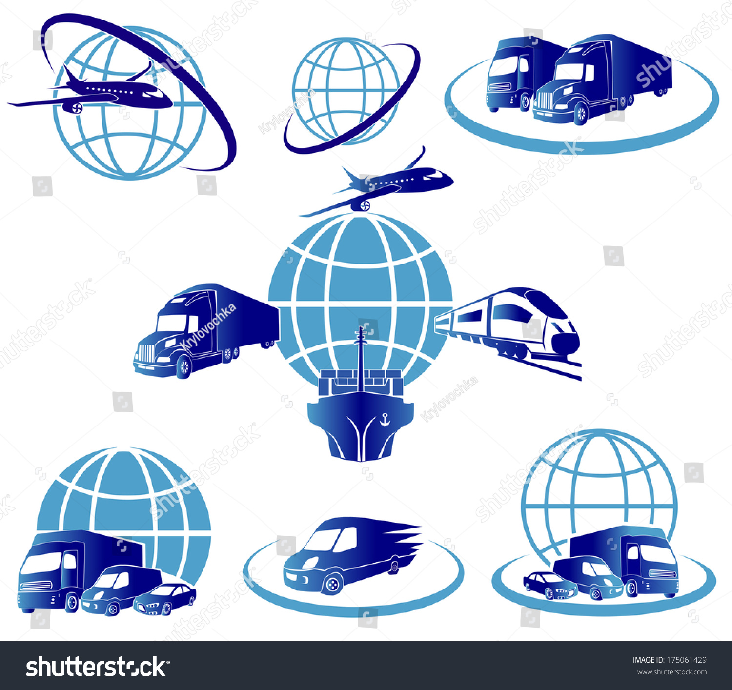 Global logistics concept illustration globe airplane stock for Global design company