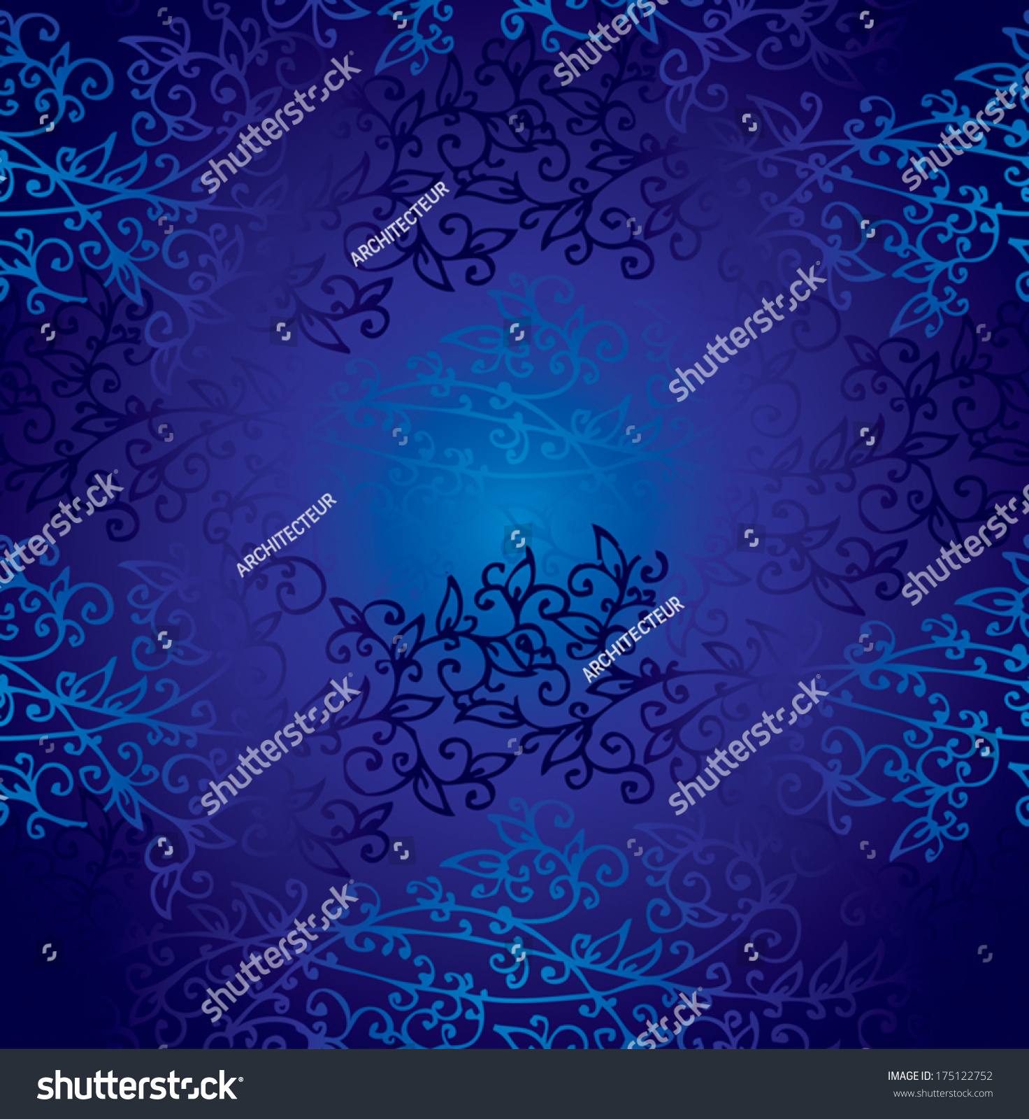 Floral deep night blueprint cyan seamless stock vector 175122752 floral deep night blueprint cyan seamless pattern texture background with global colors for malvernweather Gallery