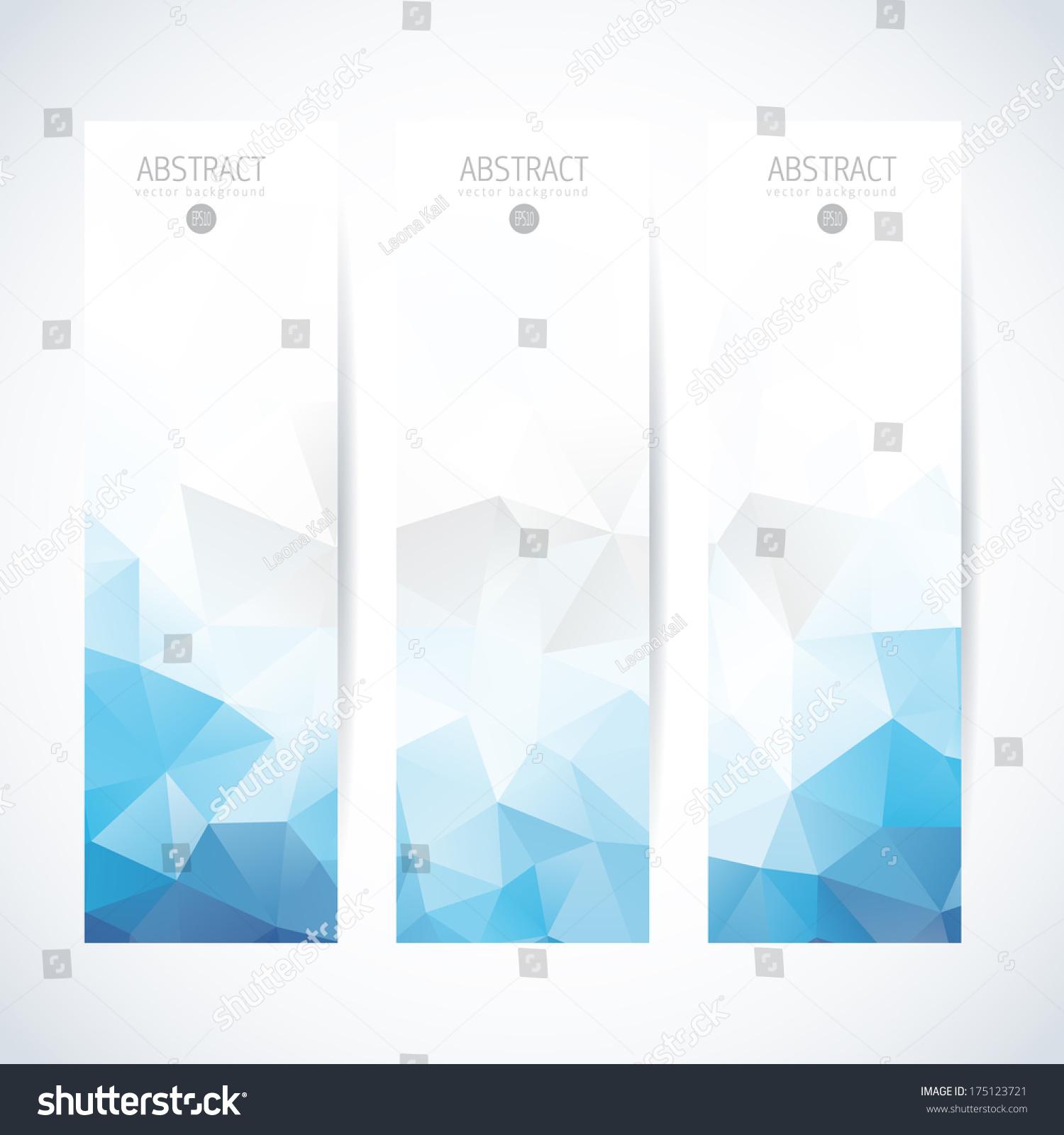 Abstract Vector Vertical Banner Stock Vector 175123721 - Shutterstock