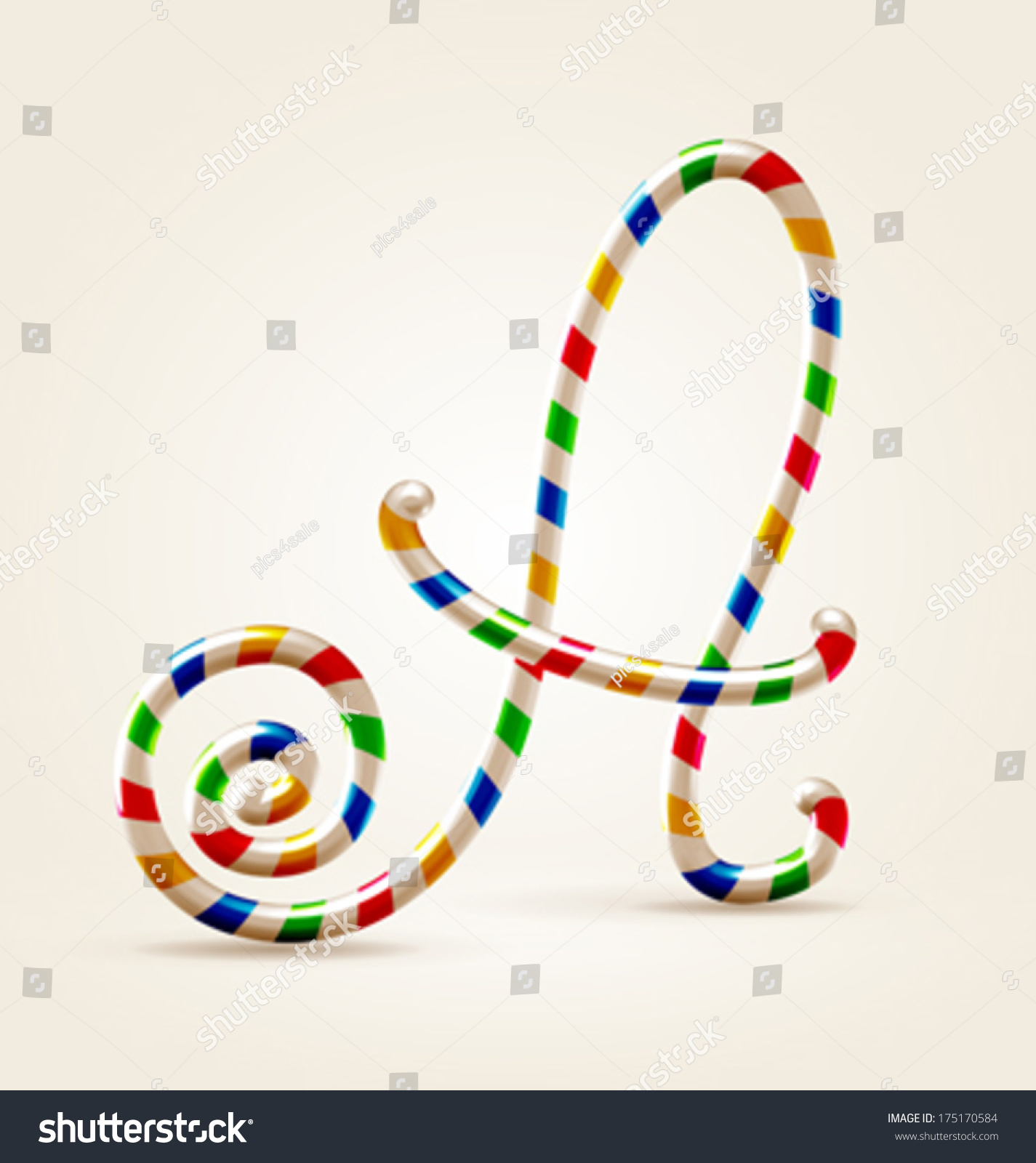Circus Wire Plastic Festive Happy Abc Stock Vector 175170584 ...