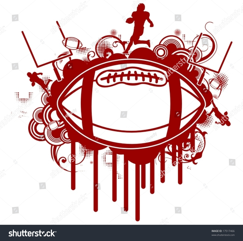 grunge footballtshirt design stock vector 17517466