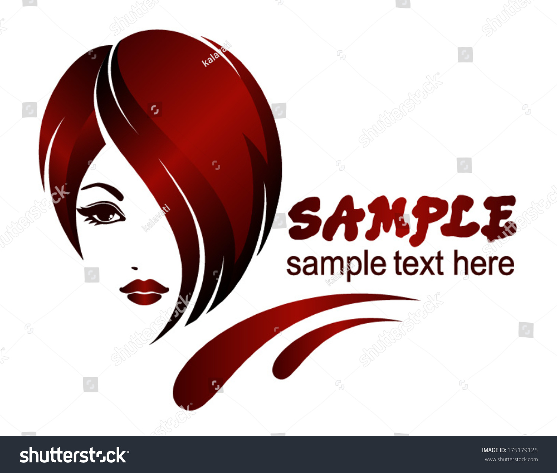 Banner Template For Beauty Salon Hair Styles Vector Logo Design