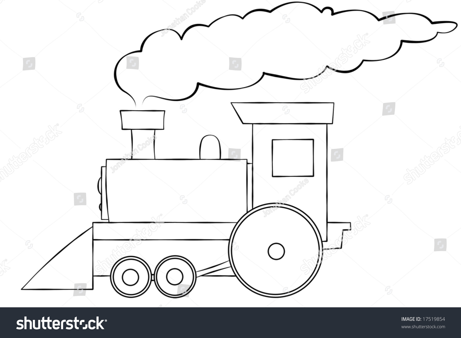 Line Art Text : Line art illustration choo train stock