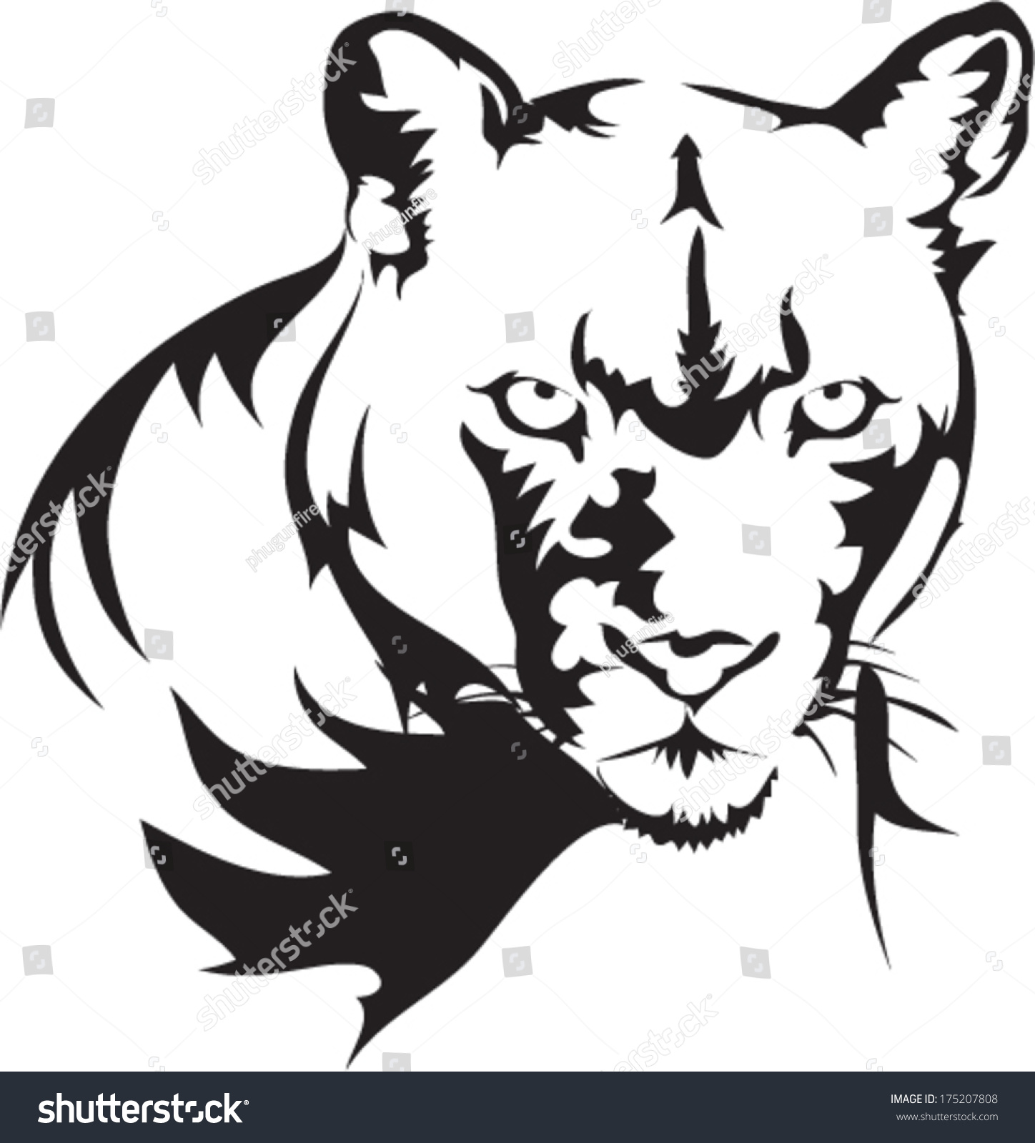 Tattoos Puma Vector Stock Vector 175207808 Shutterstock