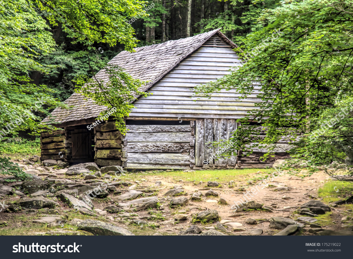 A log cabin in the woods the noah bud ogle place was a for Privately owned cabins in the smoky mountains