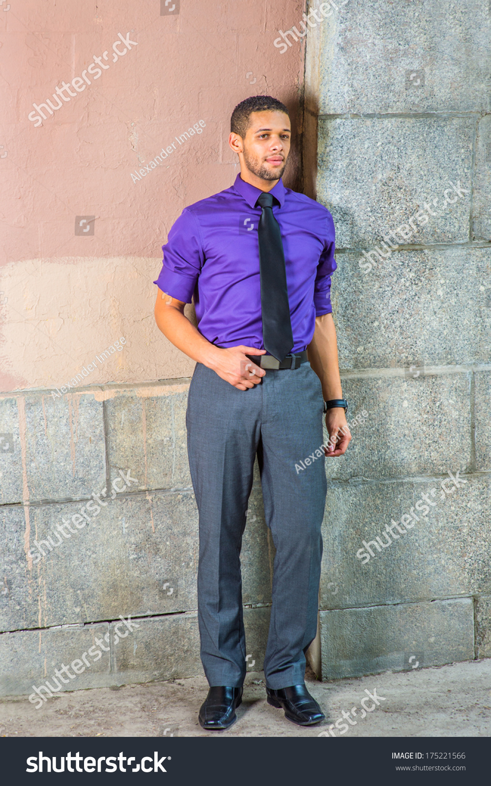 haircuts for adults royalty free dressing in a purple shirt gray 3942