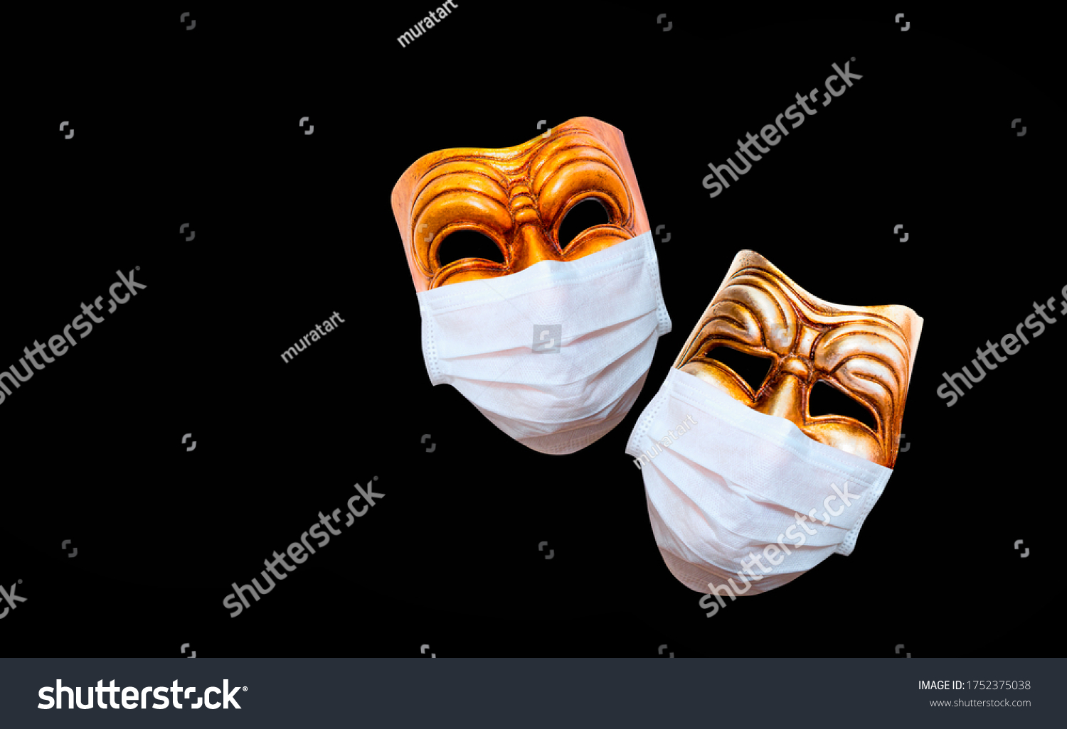 Comedy and tragedy theatrical mask  wearing protection medical mask for Corona virus (Covid-19) #1752375038
