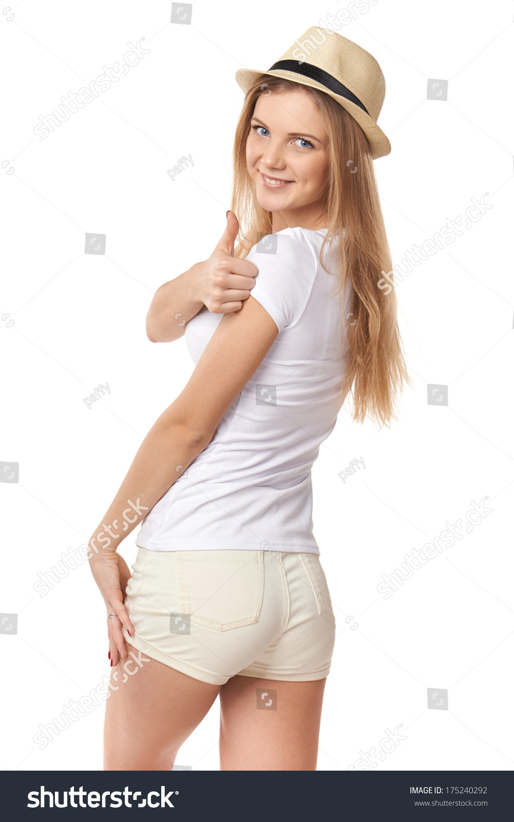 Teenage Caucasian Girl15 Years Old Sitting Outdoors: Happy Smiling Success Teen Girl White Stock Photo
