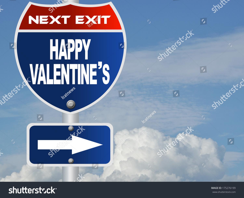 Happy Valentineu0027s Road Sign