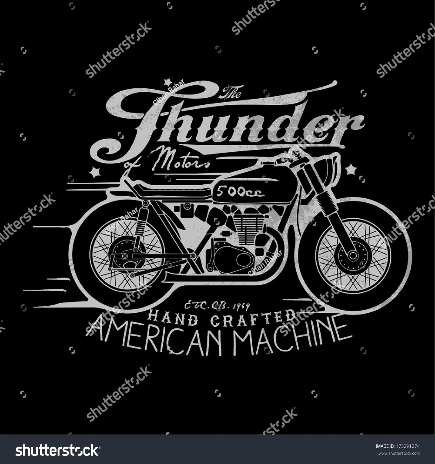 Shirt design printing - Motorcycle Themed T Shirt Printing Design