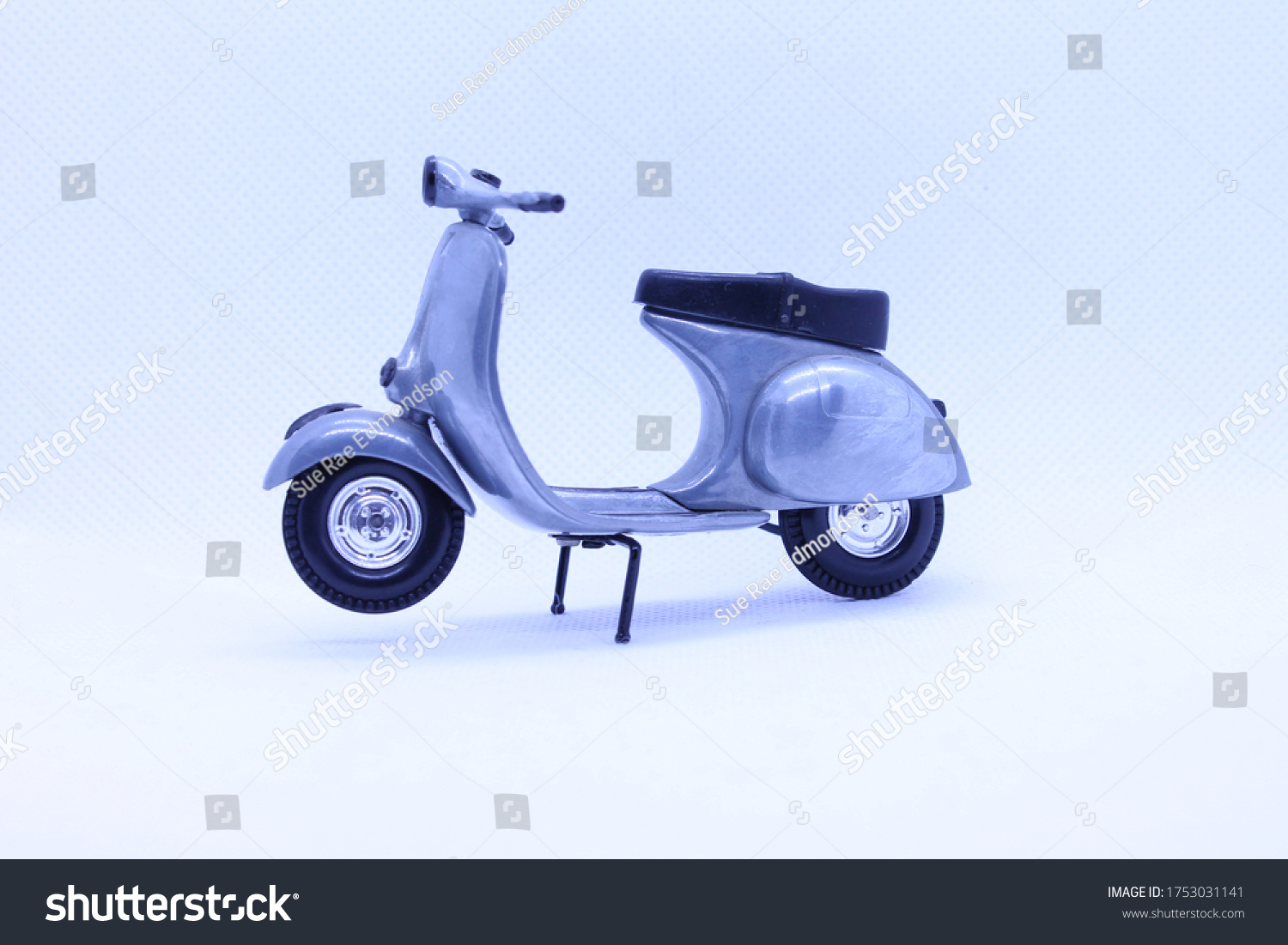 stock-photo-model-scooter-in-silver-and-