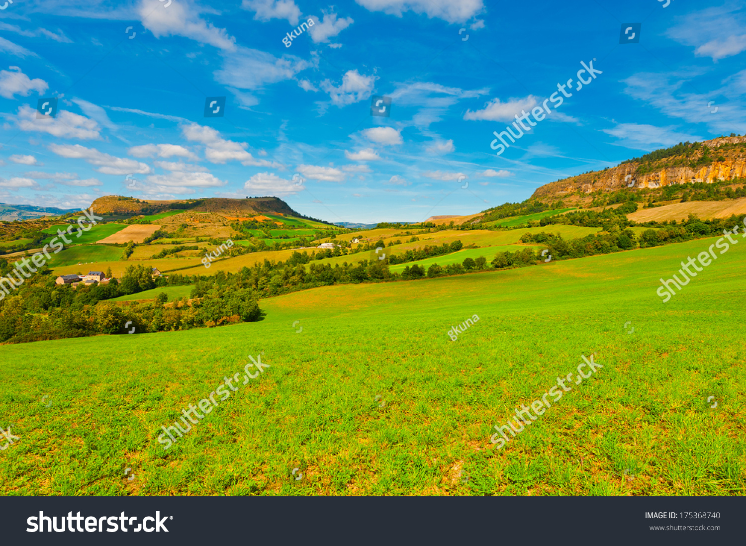 Small Village High French Alps Stock Photo 175368740