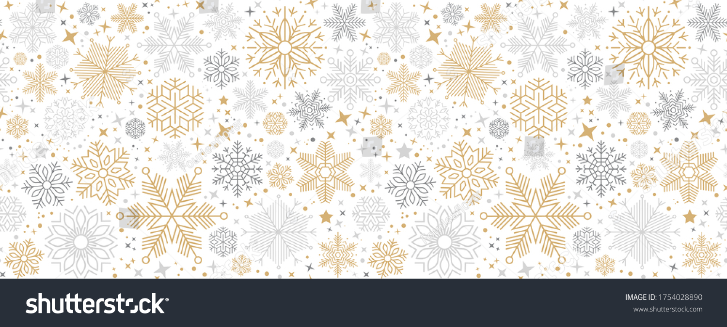 Simple Christmas seamless pattern with geometric motifs. Snowflakes and circles with different ornaments. Retro textile collection. On white background #1754028890