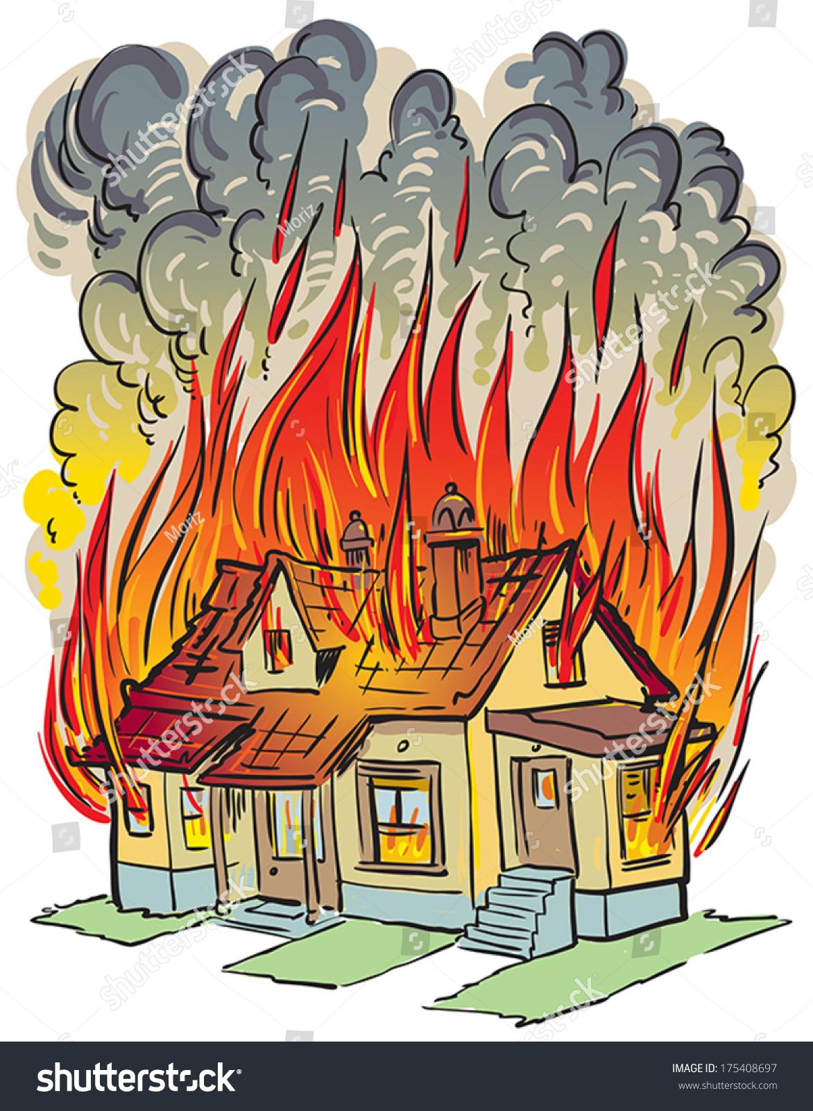 clipart burning house - photo #12