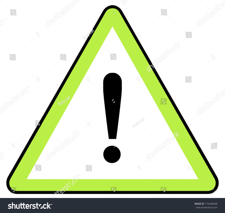 Rounded Triangle Shape Hazard Warning Sign Stock Illustration