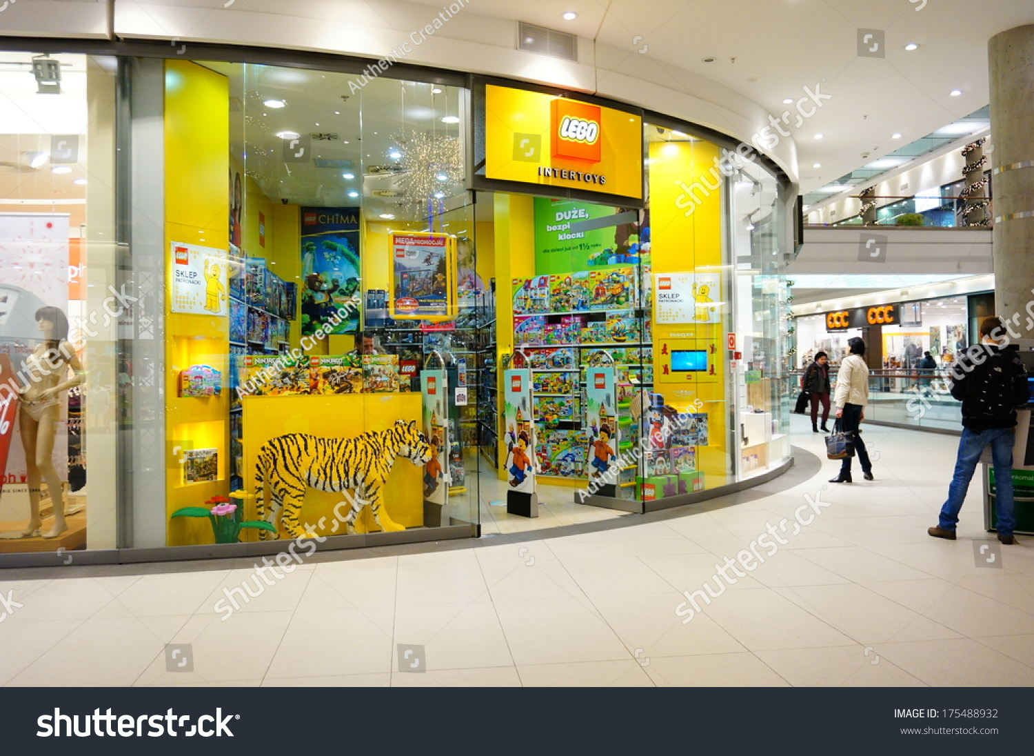 Poznan Poland November 29 2013 Lego Toys Shop In The Malta Shopping Mall Stock Photo