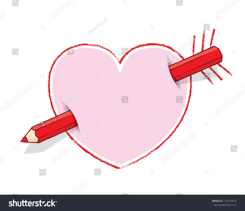 Diagonal red pencil piercing empty drawn stock illustration diagonal red pencil piercing empty drawn stock illustration 175510616 shutterstock ccuart Images
