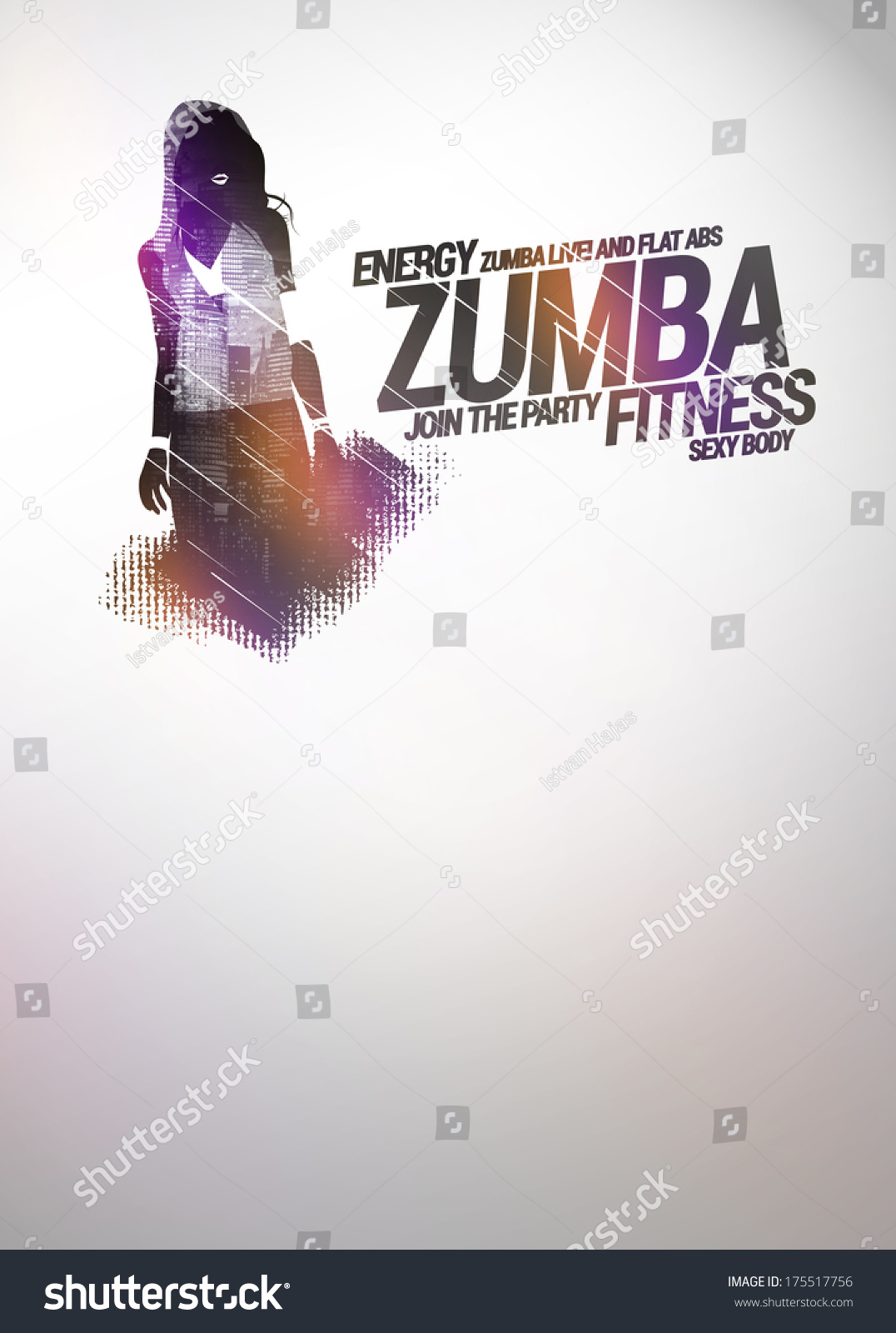 Zumba Party Dance Training Invitation Advert Stock Illustration