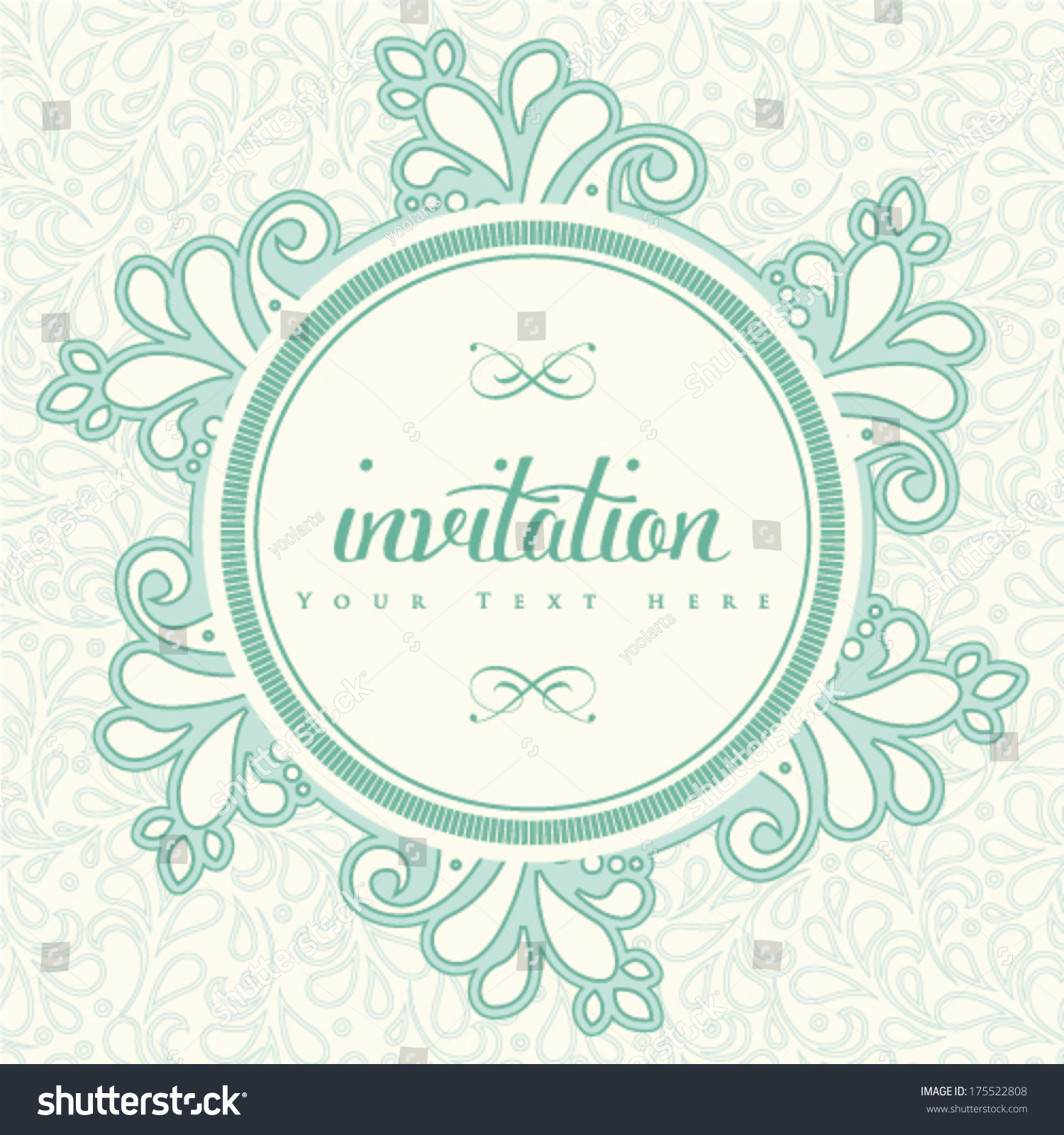 Vector wedding invitation card Perfect as invitation or announcement