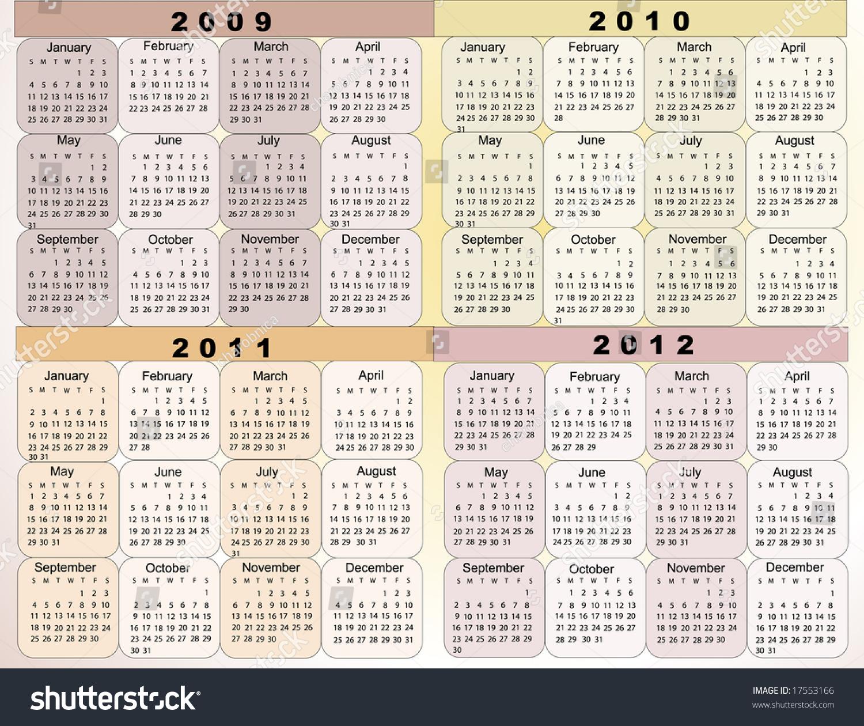 Calendar Illustration Search : Calendar new year stock vector