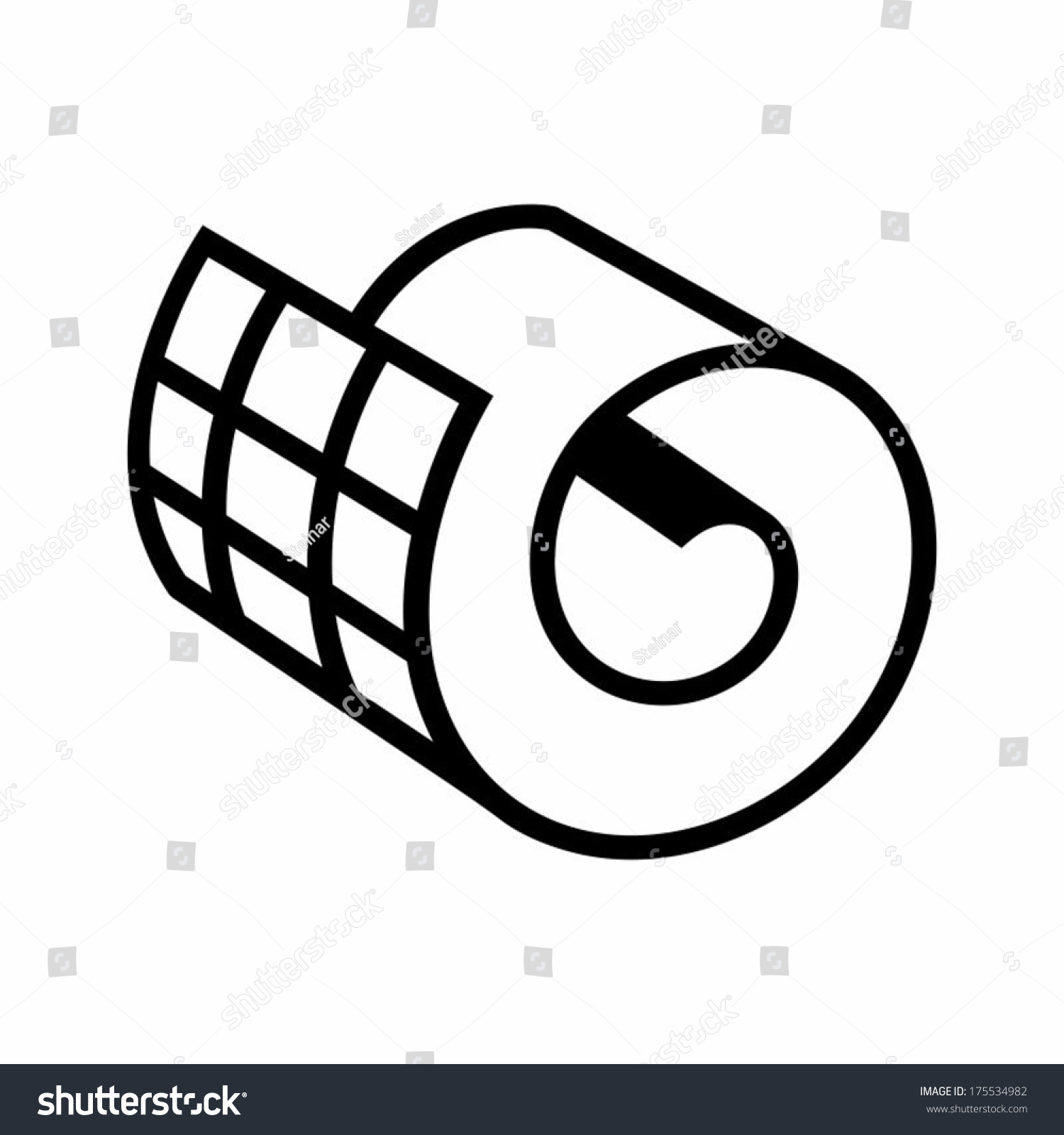 Carpet roll vector for Carpet roll logo