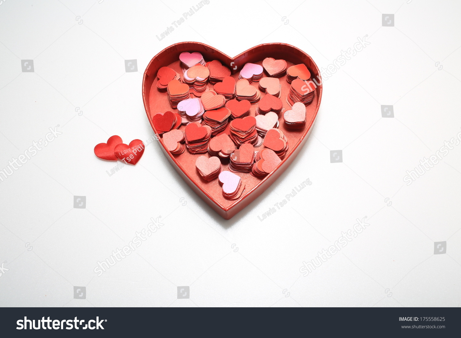 Big heart gift full small hearts stock photo 175558625 shutterstock big heart gift full of small hearts i love you or negle Image collections