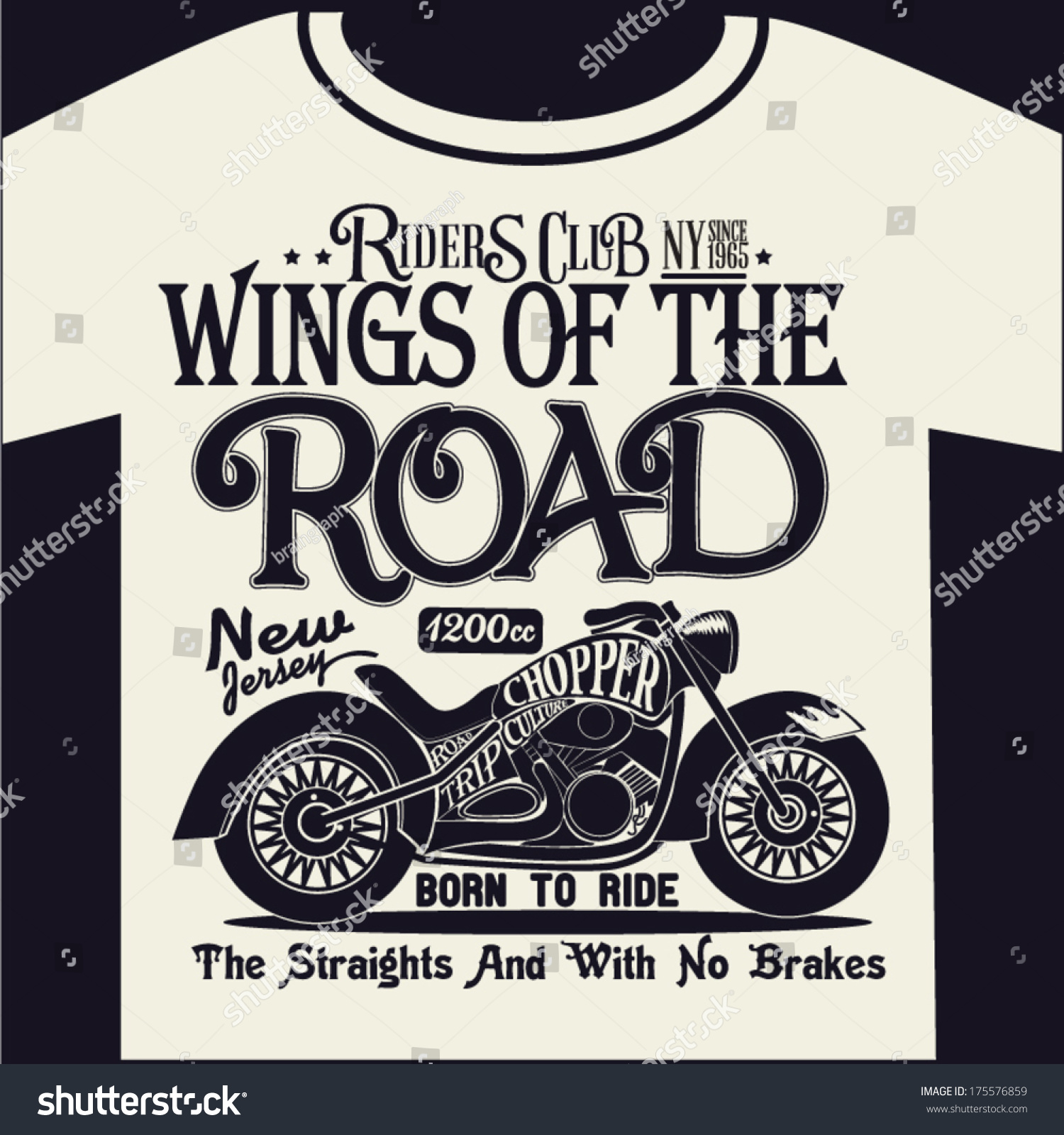 Motorcycle graphic design tshirt stock vector 175576859 for Graphic designs for t shirts