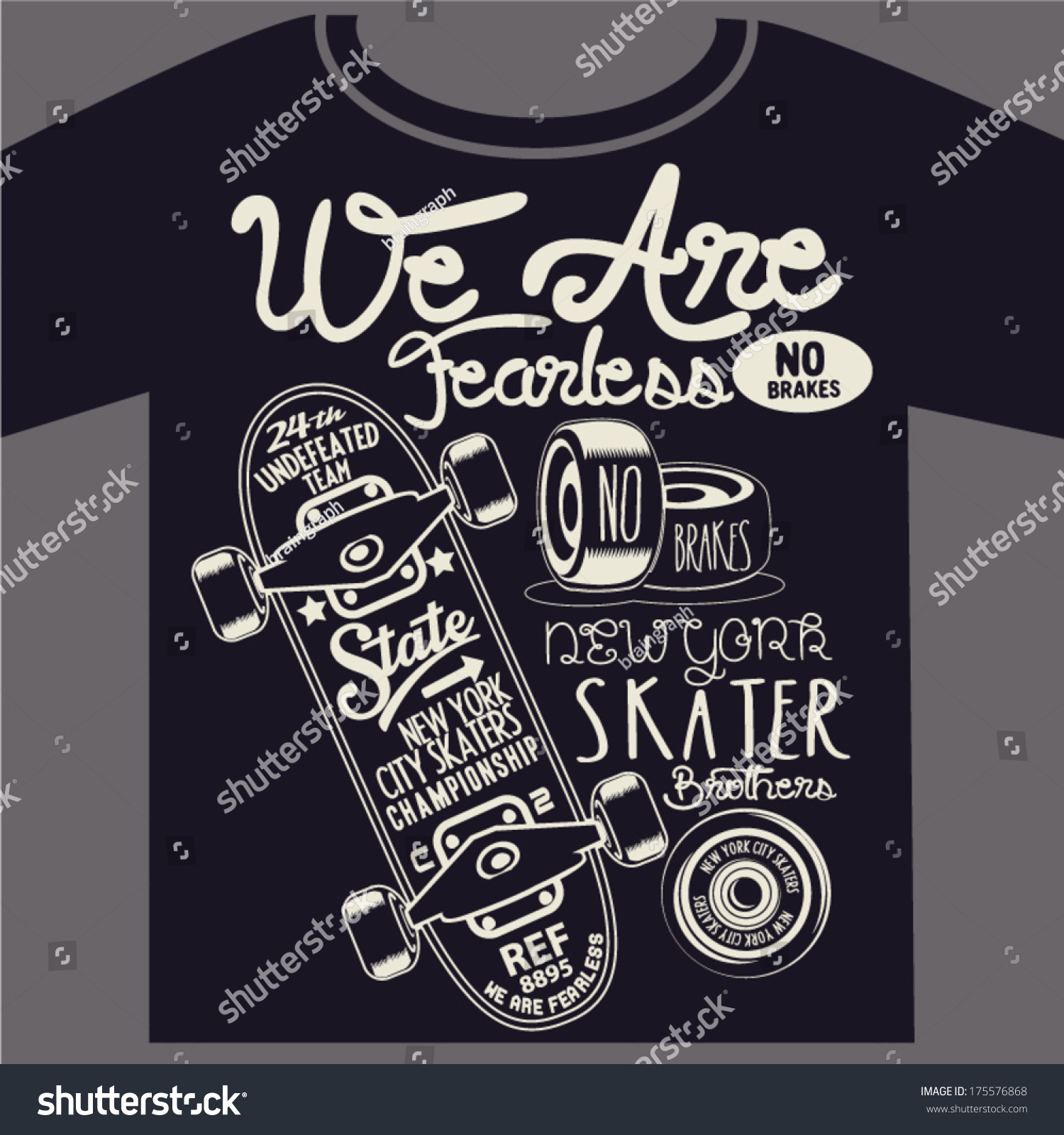 Skateboard graphic design tshirt stock vector 175576868 for Graphic designs for t shirts