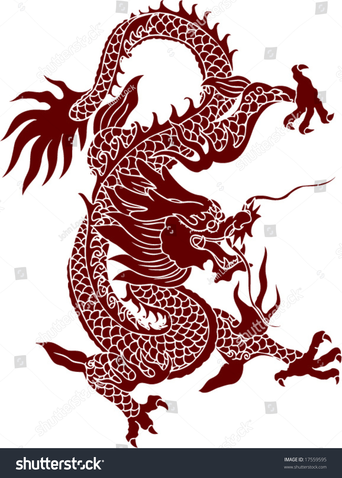 Vector ancient chinese dragon pattern stock vector for Chinese vector