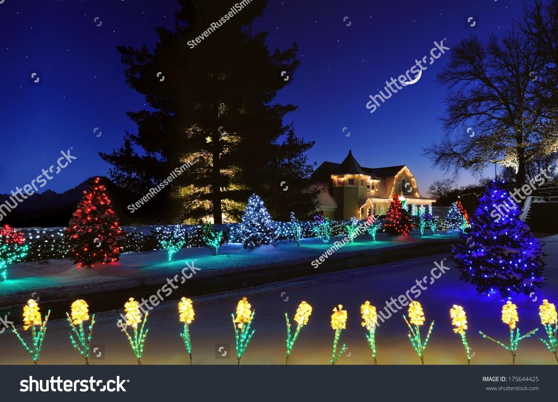 beautiful christmas lights at oglebay park in west virginia under a starry winter sky - Oglebay Park Christmas Lights