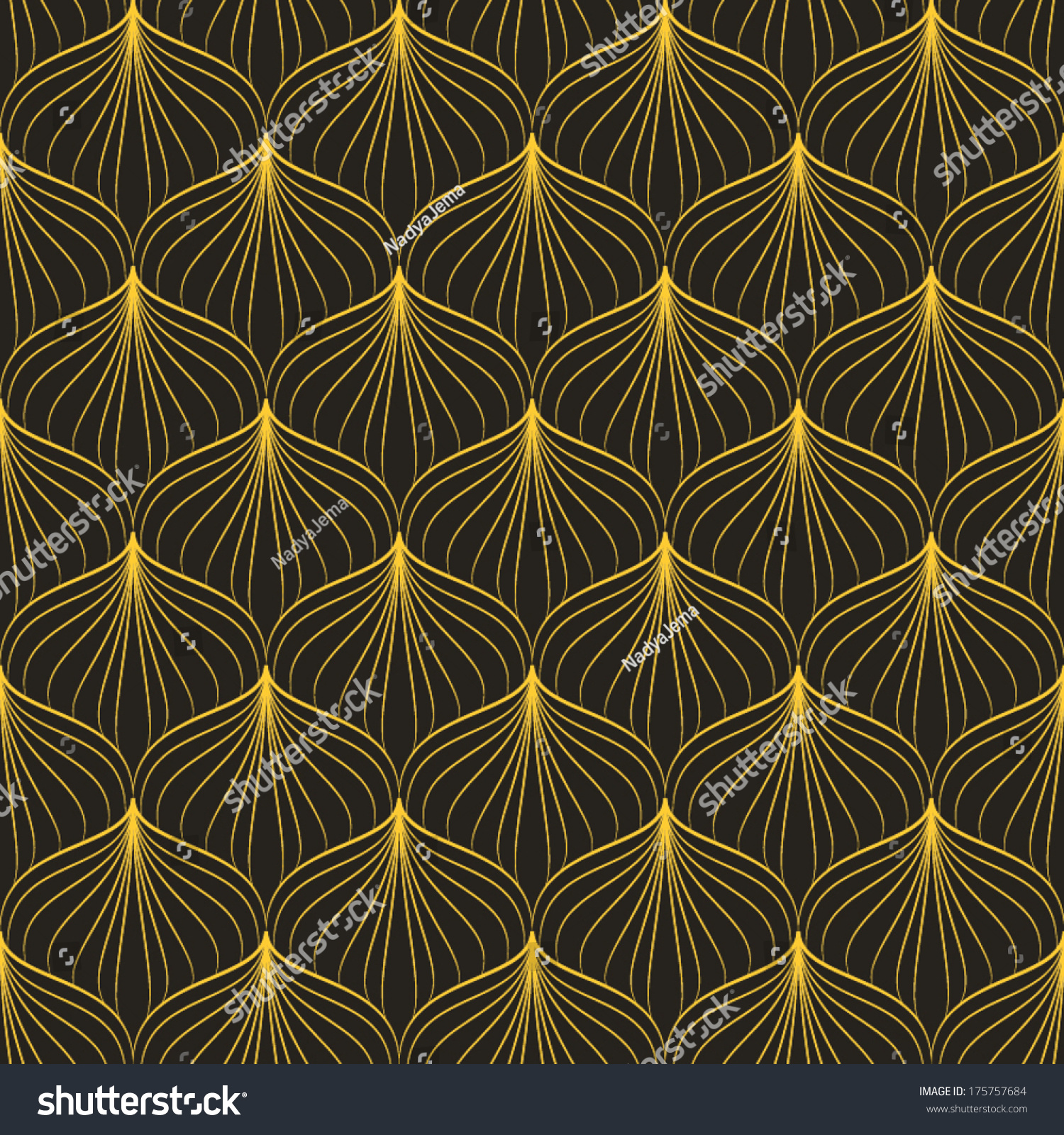 Abstract geometric art deco pattern seamless stock vector for Style retro deco