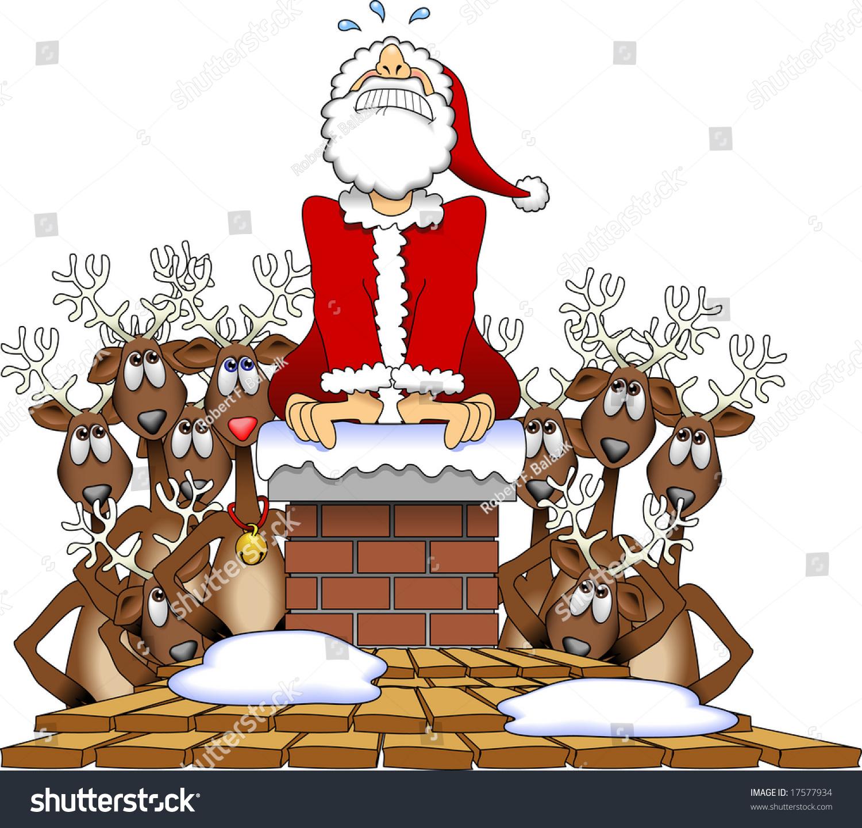 Vector Cartoon Graphic Depicting Santa Claus Stock Vector