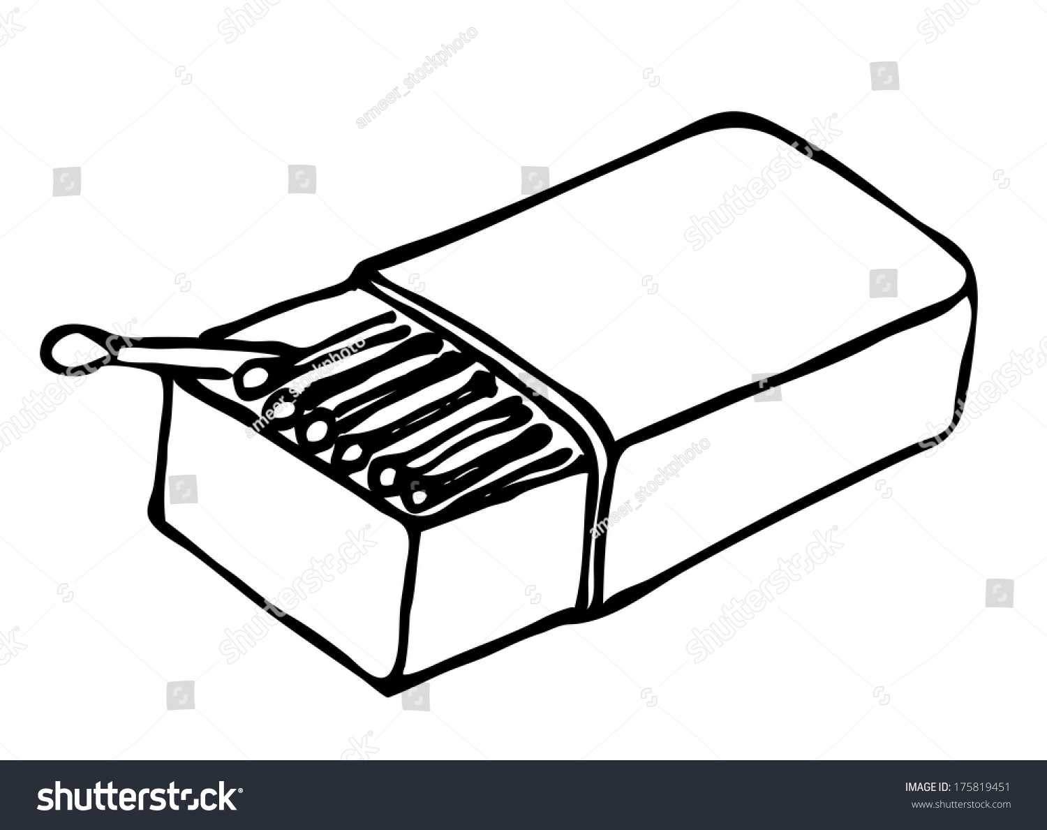 Matches Box Stock Illustration 175819451 - Shutterstock for Matches Clip Art  51ane