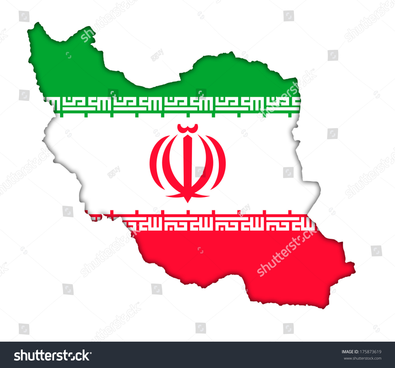 Iranian flag banner map icon iran stock illustration 175873619 iranian flag banner map icon of iran buycottarizona Choice Image