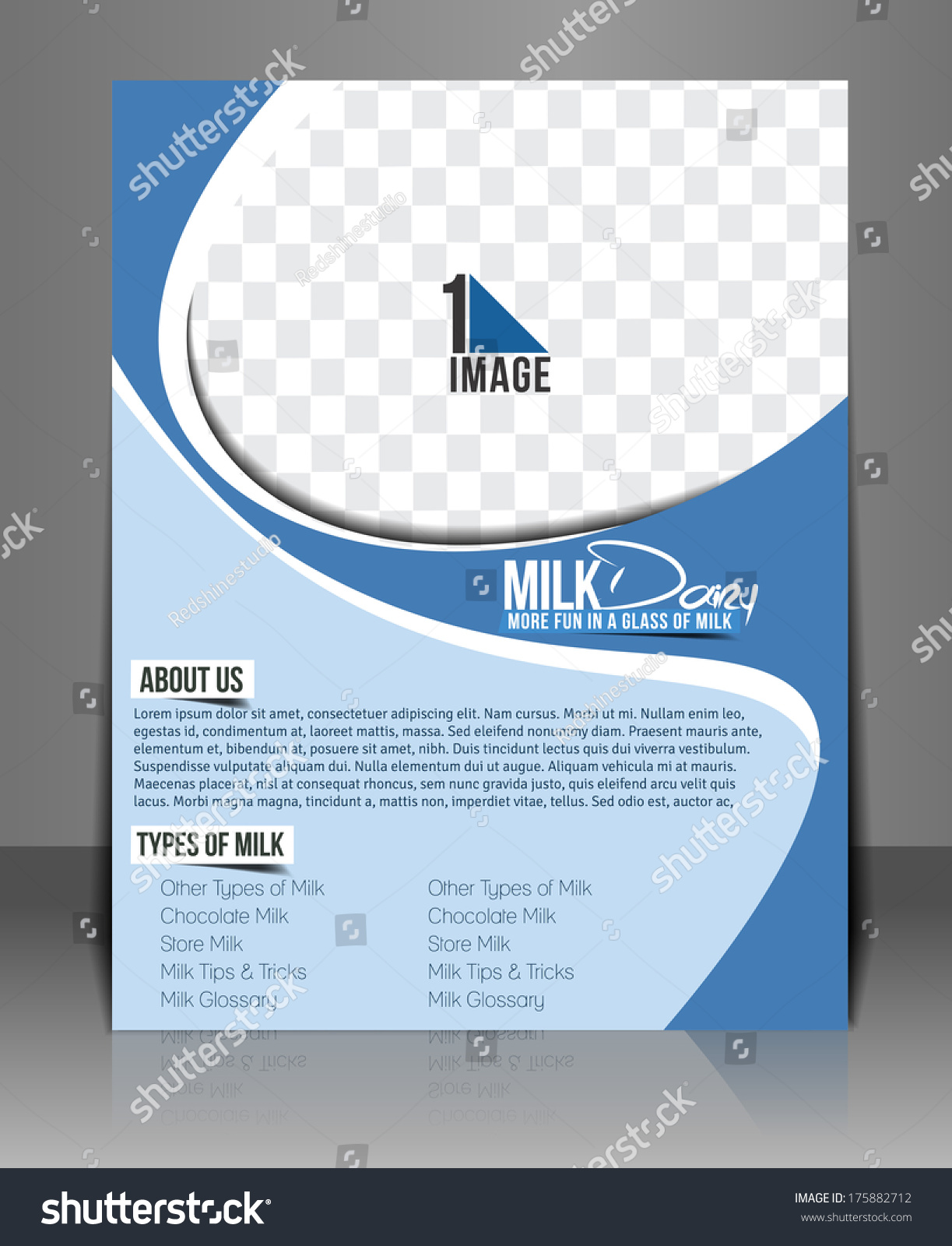 advertisement template milk store back flyer template stock vector ...