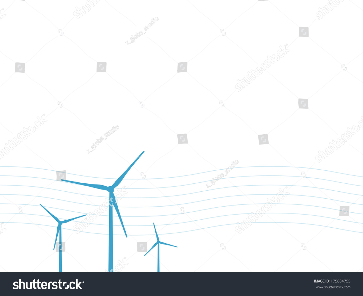 Wind Power Turbine Page Design Layout Stock Vector Royalty Free Diagram