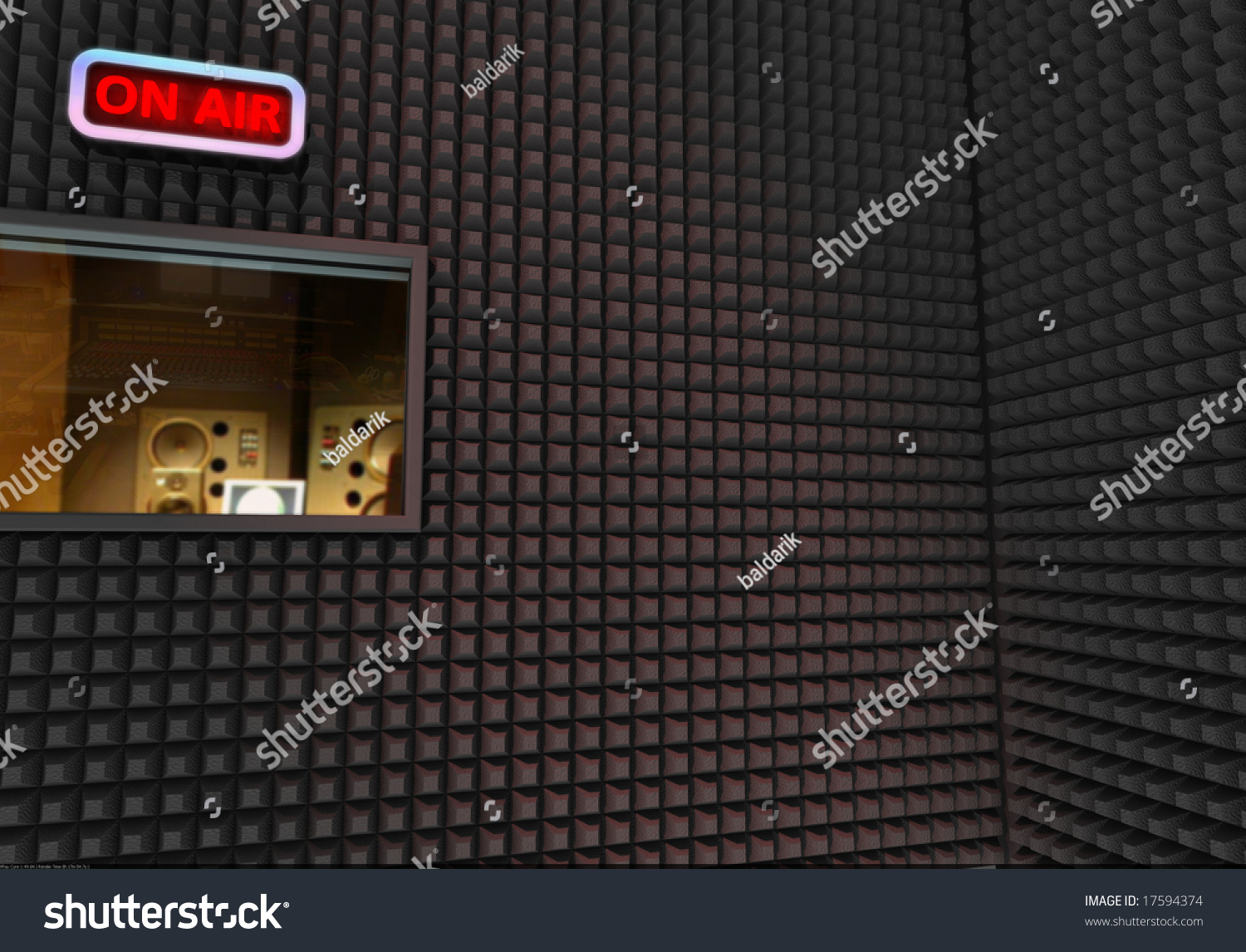 Recording Studio Background Stock Illustration 17594374
