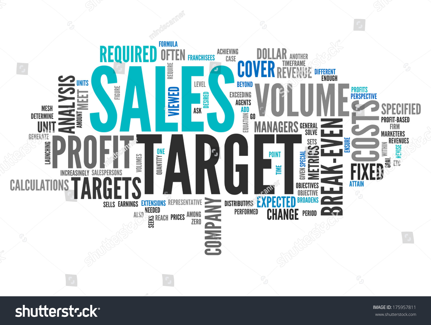 Word Cloud Sales Target Related Tags Stockillustration 175957811