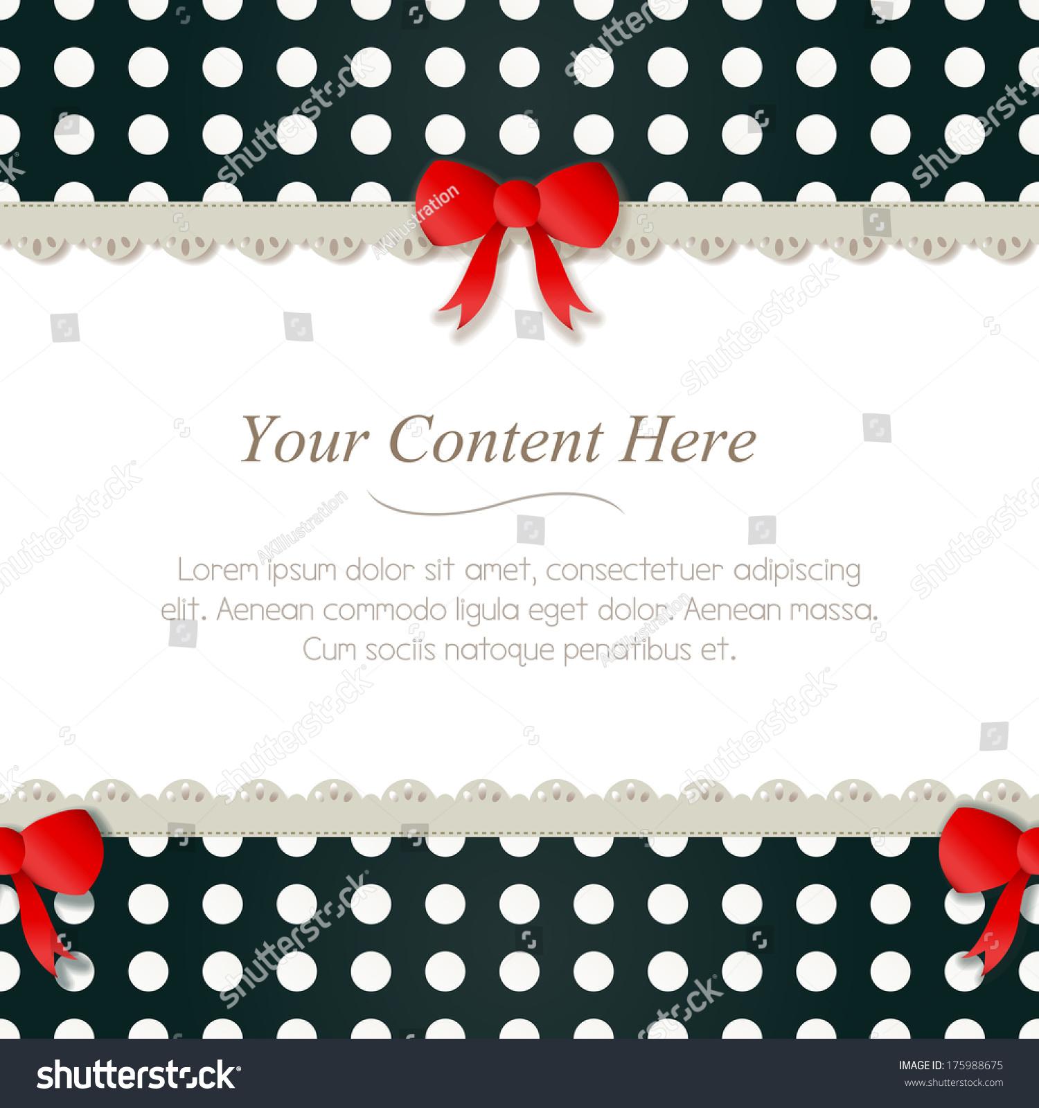 Cute Black White Polka Dot Frame Stock Illustration 175988675 ...