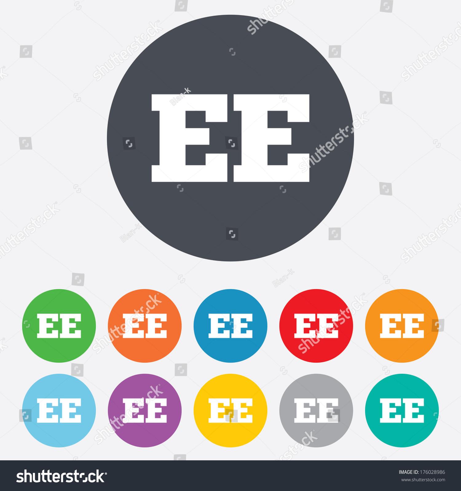 Estonian Language Sign Icon Ee Translation Stock Vector 176028986 ...