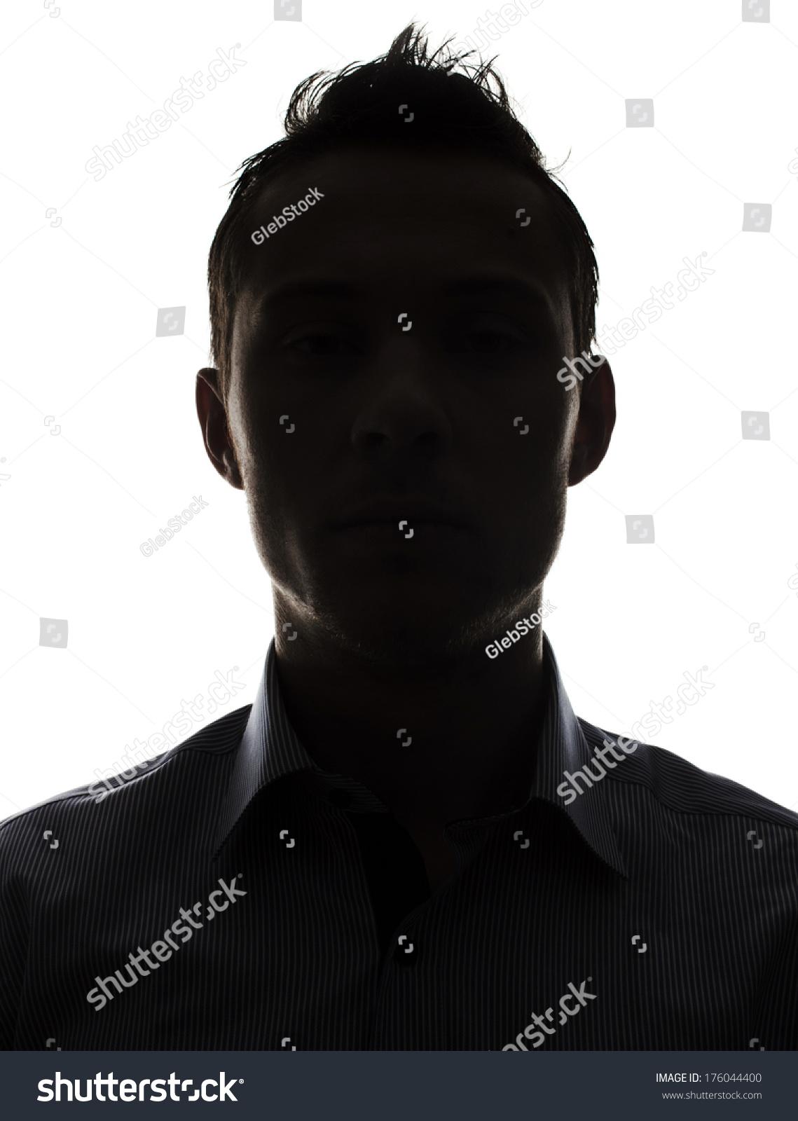 Male Person Silhouette Stock Photo 176044400 : Shutterstock