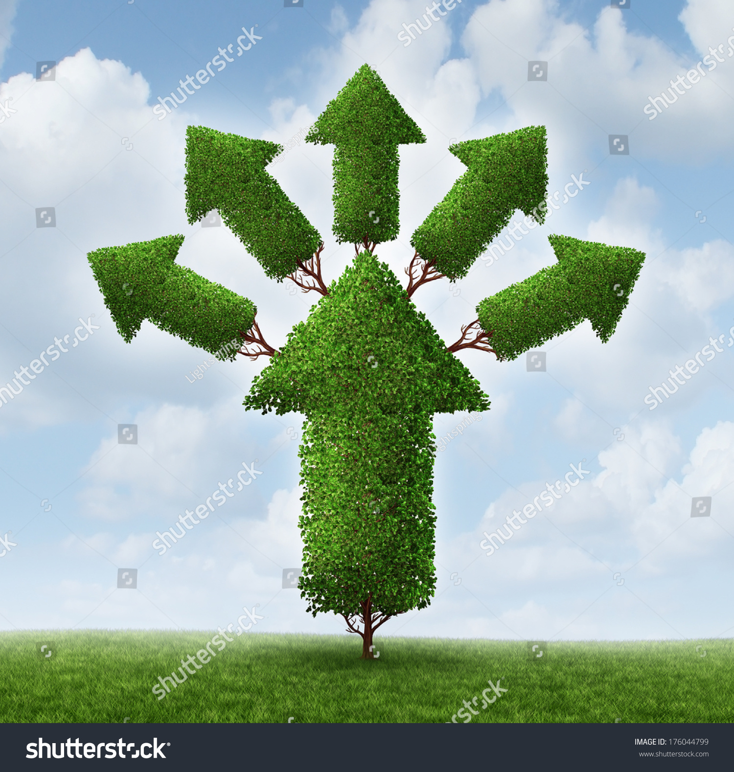 Success expansion business concept tree shaped stock illustration 176044799 shutterstock - Successful flower growing business ...