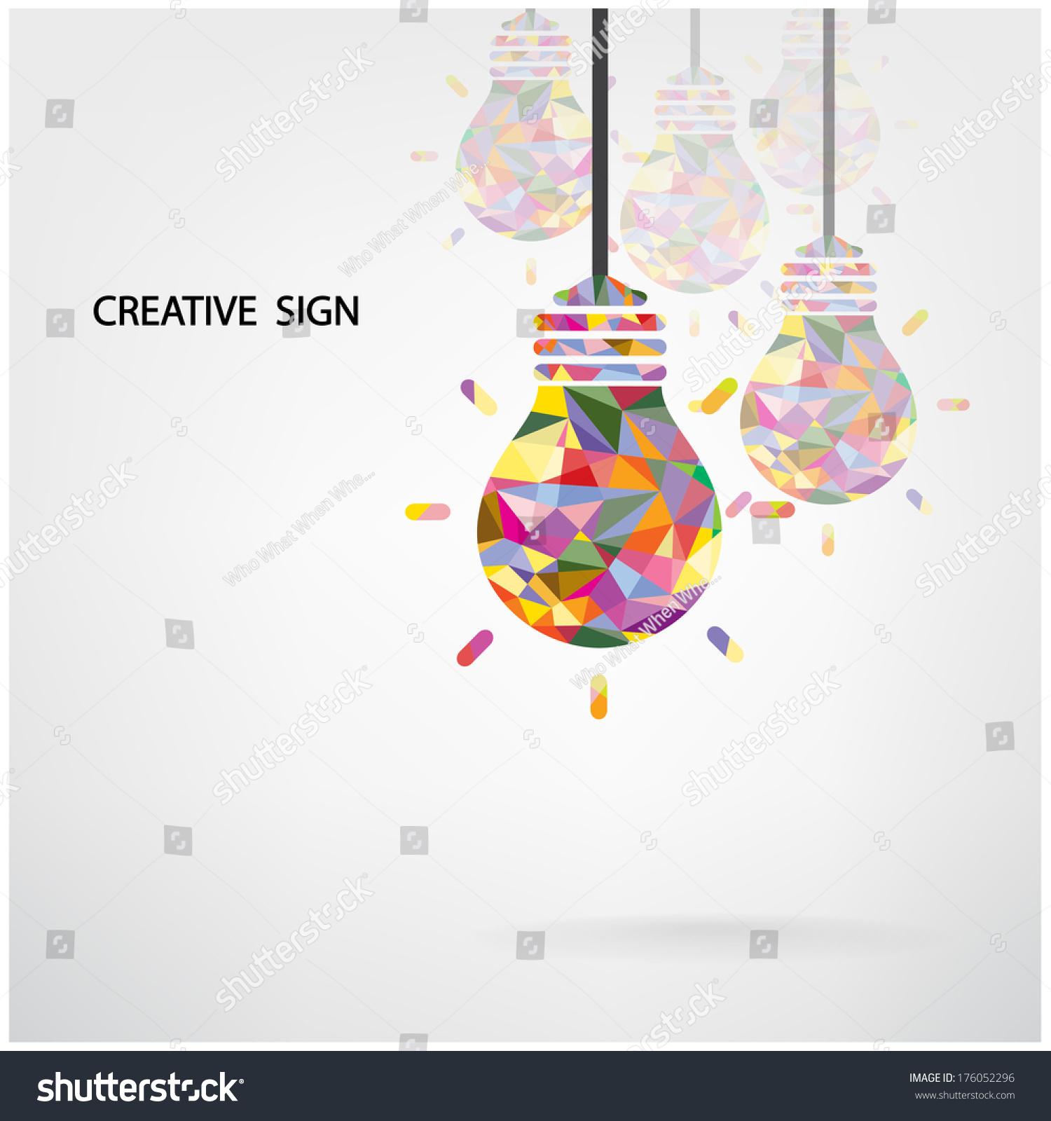 creative light bulb idea concept background design for poster flyer