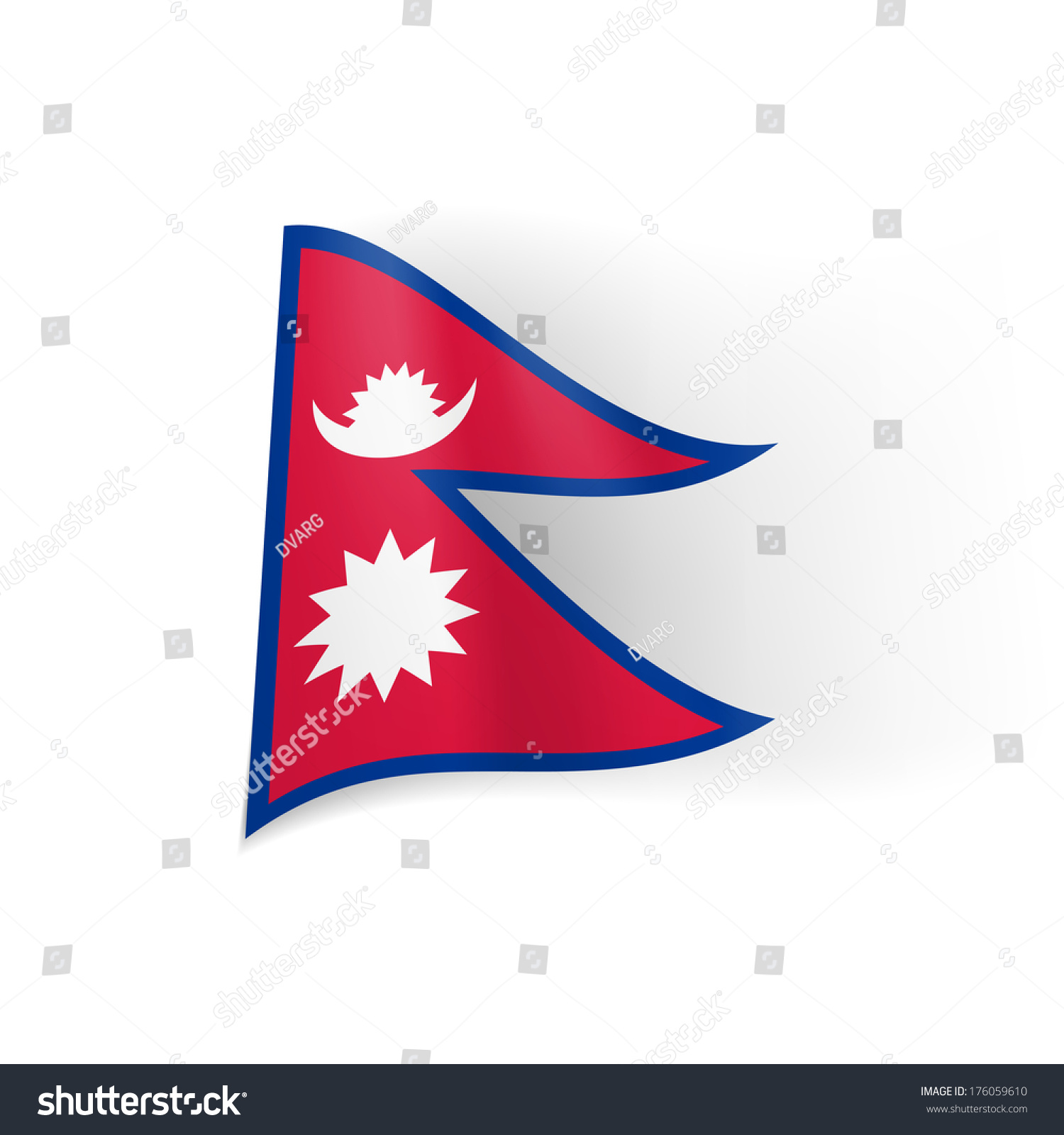 National Flag Nepal Stock Vector Royalty Free 176059610 Shutterstock