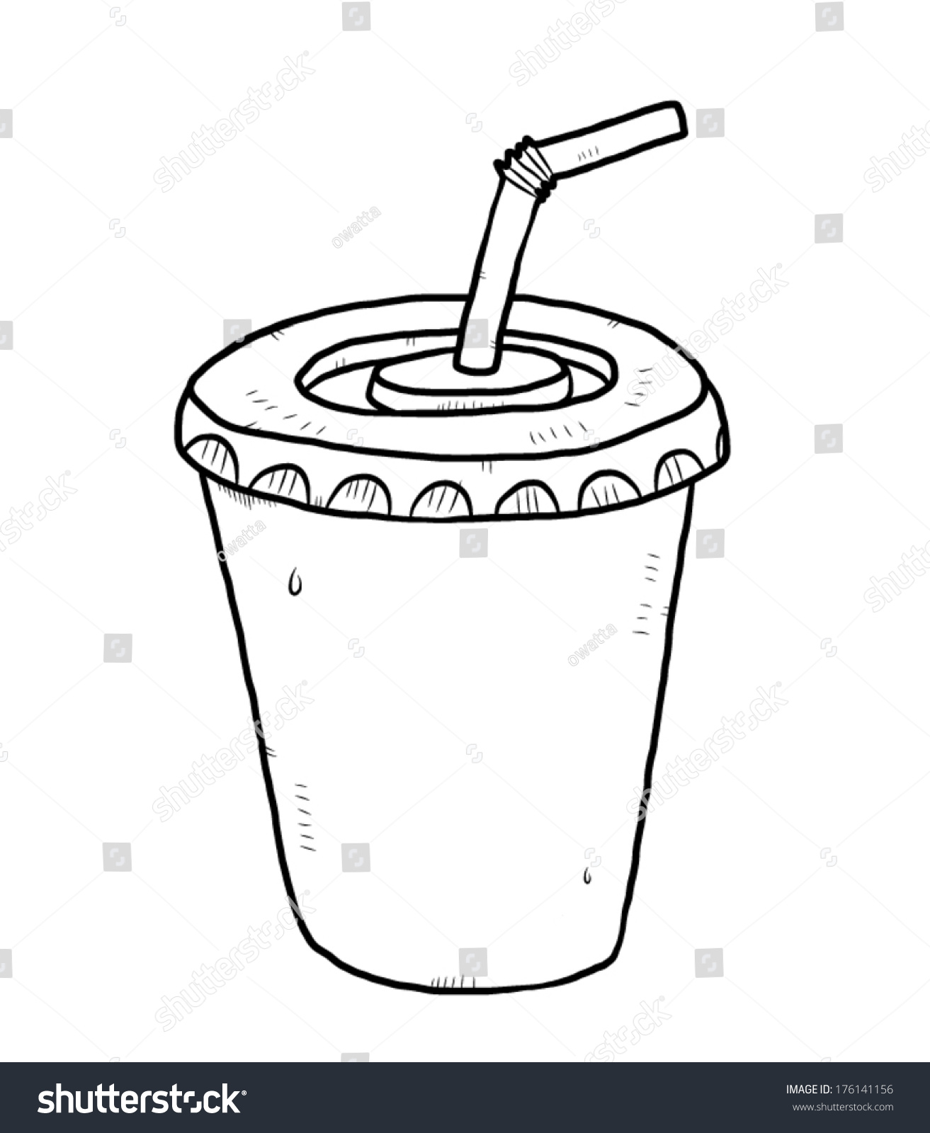 how to draw cartoon water splashing in a cup