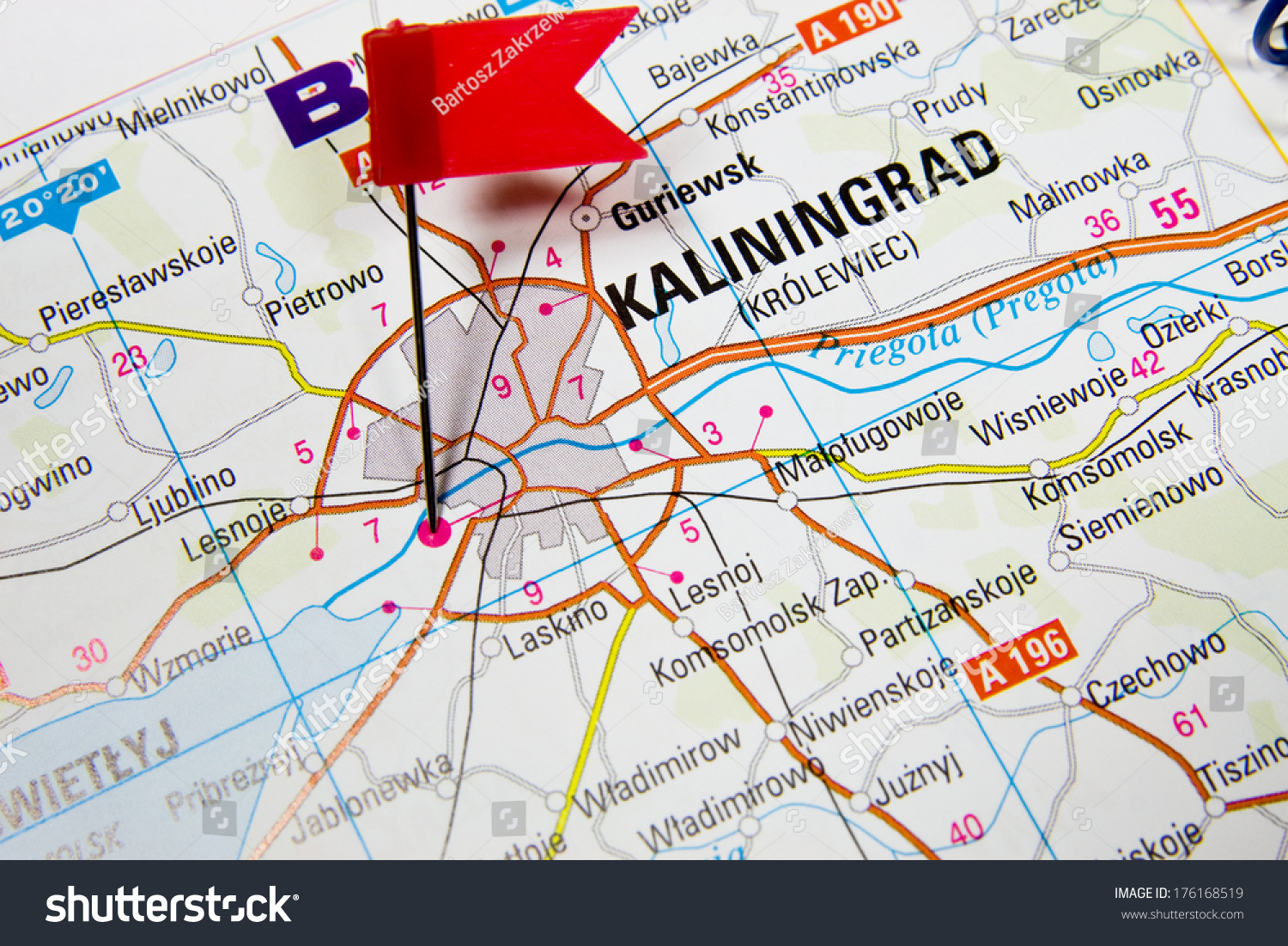 Map Selected City Kaliningrad Russia Stock Photo Edit Now