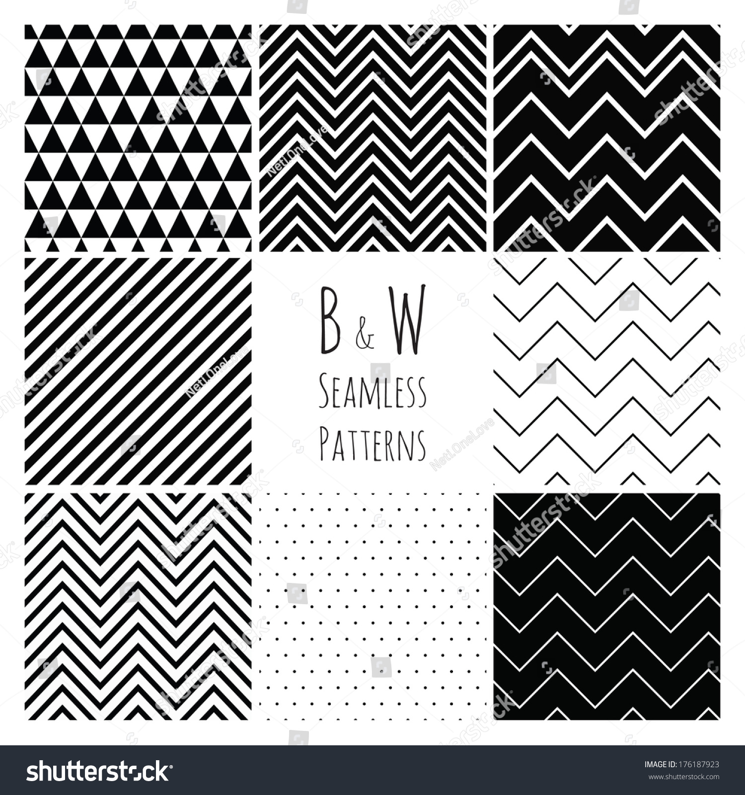 seamless geometric hipster background set black stock